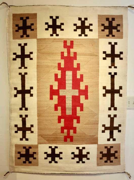 JB Moore Crystal Trading Post Navajo Rug for Sale 939