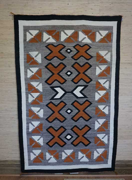 JB Moore Crystal Trading Post Navajo Rug for Sale