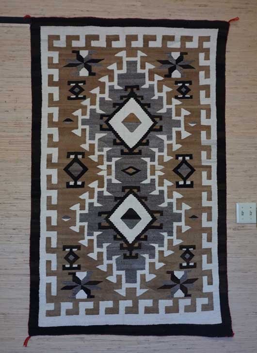 JB Moore Crystal Trading Post Navajo Rug Weaving