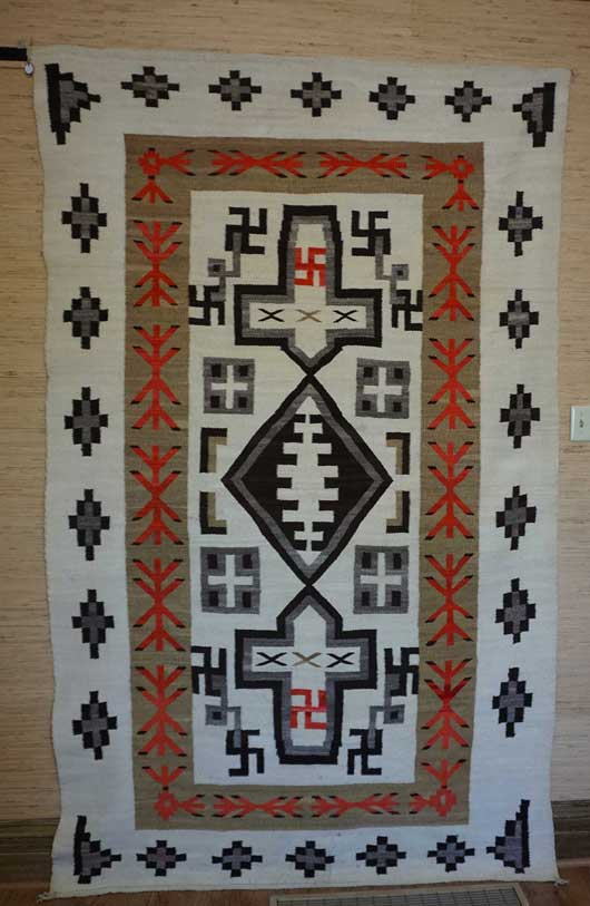# 869 Another Variant of Plate XXX in the 1911 Catalog Navajo Rug