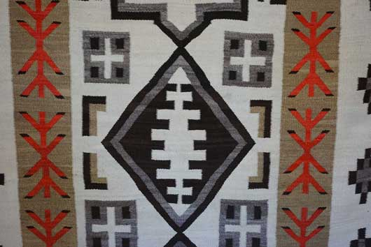 JB Moore Crystal Trading Post Navajo Rug Weaving Variant of Plate XXX in the 1911 Catalog