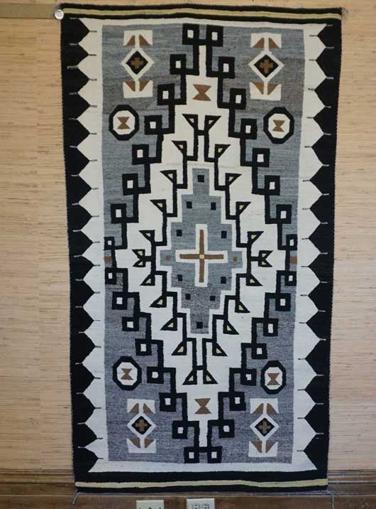 JB Moore Crystal Trading Post Navajo Rug with a Large Diamond 860