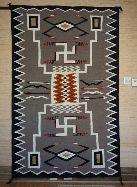 JB Moore Crystal Trading Post Storm Pattern Navajo Rug Variant of Plate XXVIII 1088 Photo 001