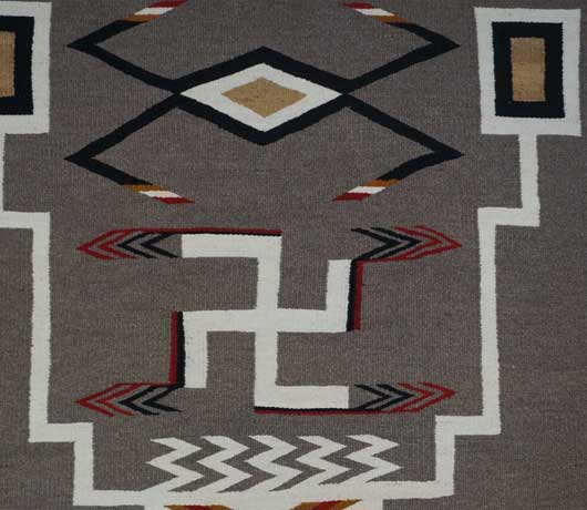 JB Moore Crystal Trading Post Storm Pattern Navajo Rug Variant of Plate XXVIII 1088 Photo 004
