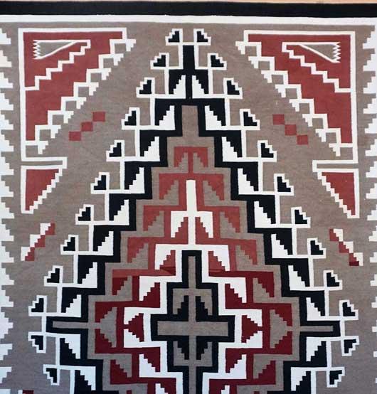 Klagetoh Navajo Rug 1043