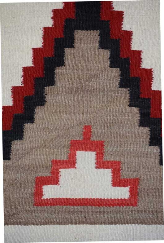 Large Pictorial Eight Pointed Star Navajo Rug 890