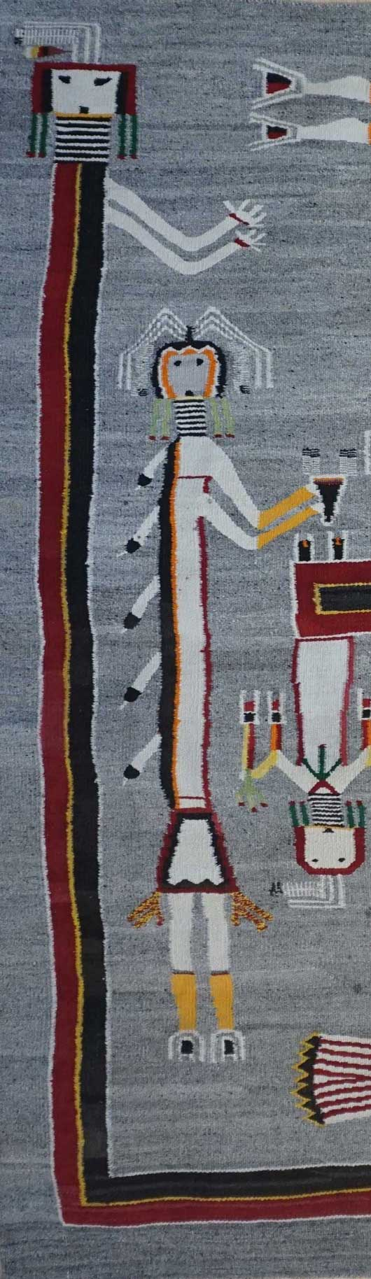Large Sandpainting Navajo Rug from the Nightway Ceremony 1115 Photo 002