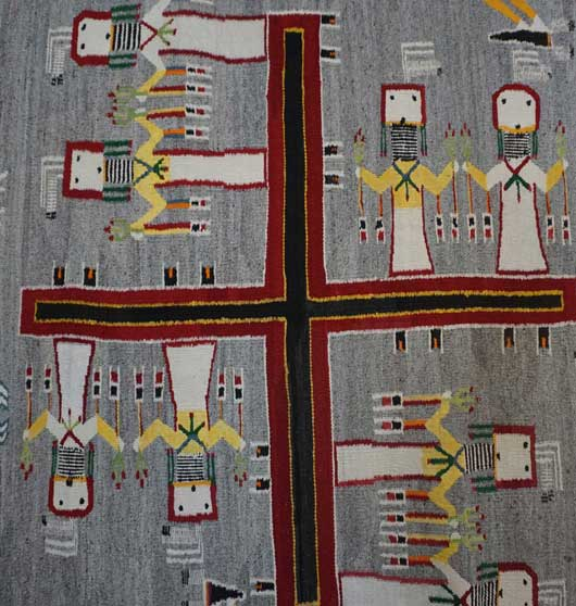 Large Sandpainting Navajo Rug from the Nightway Ceremony 1115 Photo 003