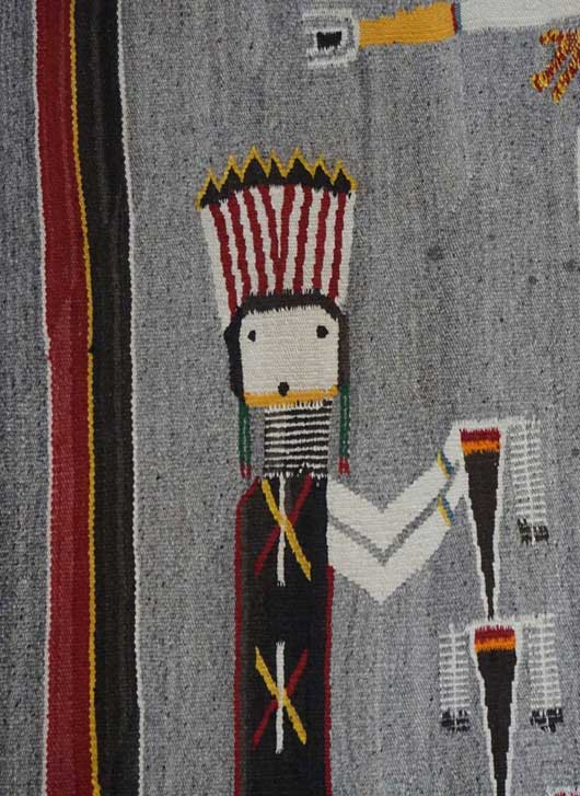 Large Sandpainting Navajo Rug from the Nightway Ceremony 1115 Photo 004