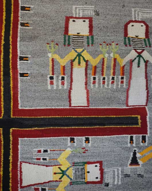 Large Sandpainting Navajo Rug from the Nightway Ceremony 1115 Photo 005