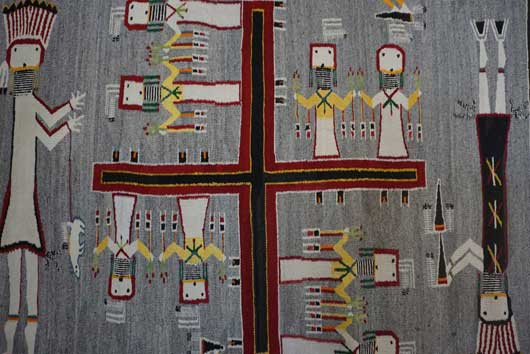 Large Sandpainting Navajo Rug from the Nightway Ceremony 1115 Photo 007