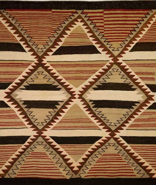 Navajo Banded Chiefs Blanket Revival Variant 113 Photo 002
