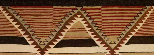 Navajo Banded Chiefs Blanket Revival Variant 113 Photo 004