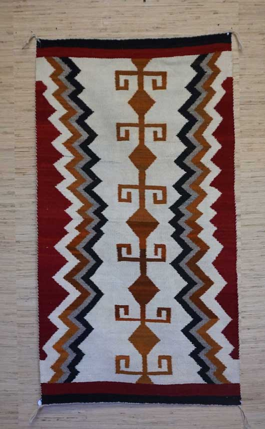 Navajo Double Saddle Blanket 886 for Sale