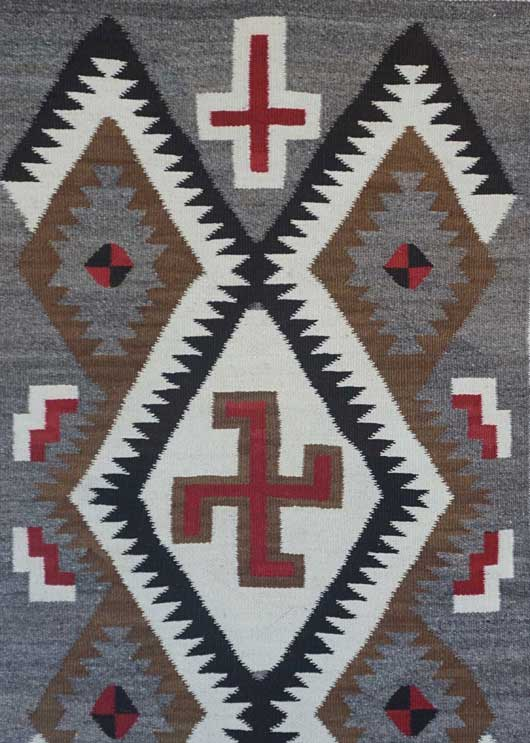 Navajo Double Saddle Blanket with Whirling Log 1012
