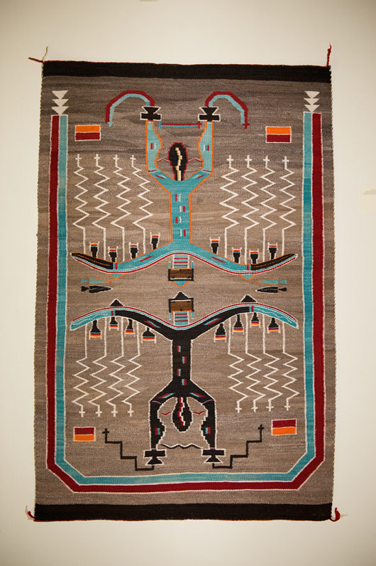 Sand Painting Pictorial Navajo Rug
