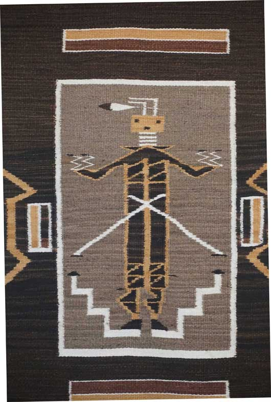 Navajo Hero Twin Monster Slayer Navajo Rug 587