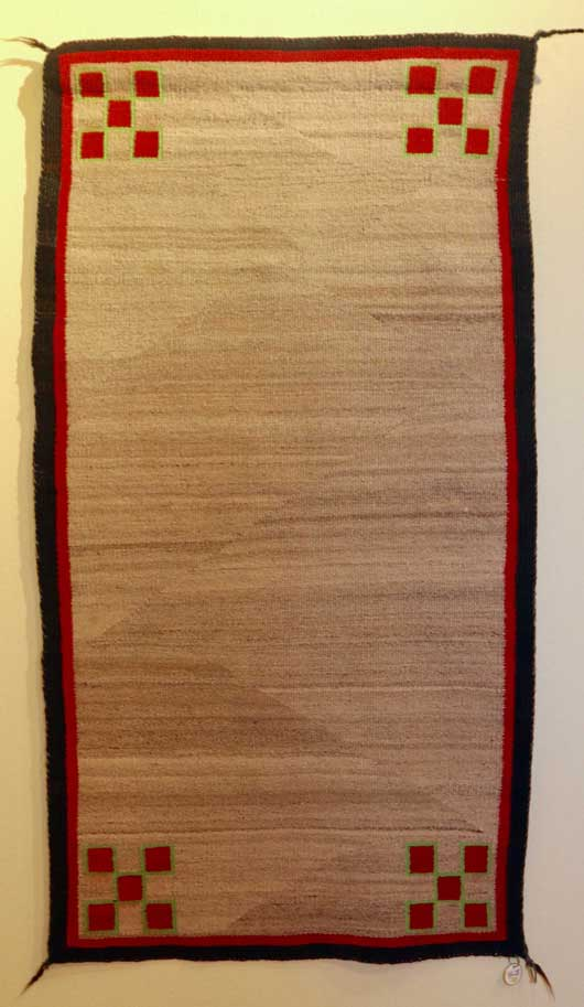 Navajo Open Field Double Saddle Blanket for Sale 780 for Sale