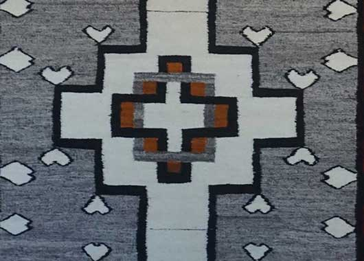 Navajo Rug for Sale with Hearts 1070