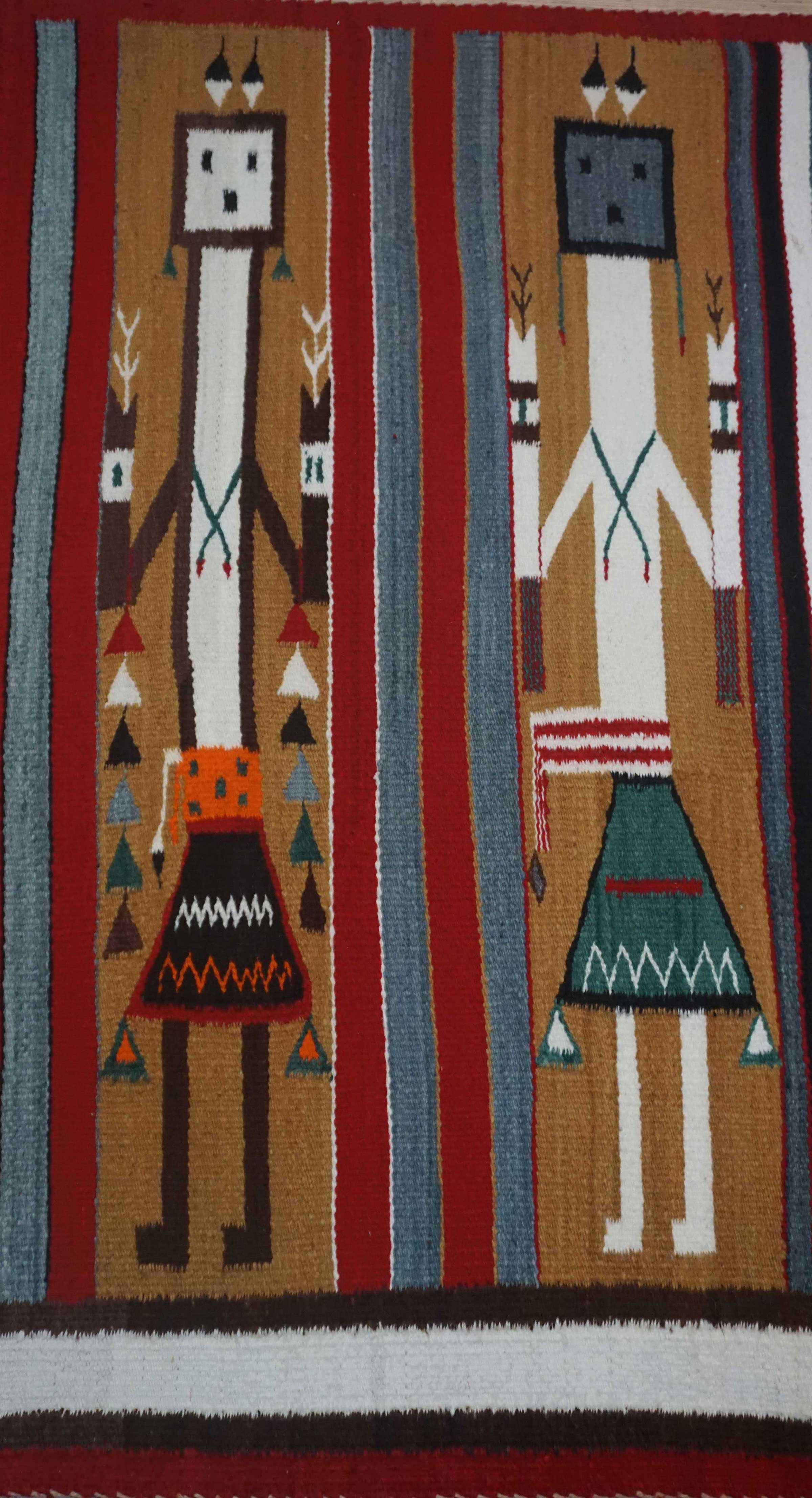 Navajo Rug Weaving For Sale Five Colorful Female Yei