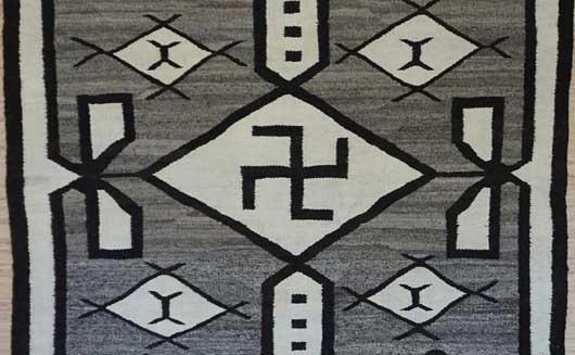 Navajo Rug with Whirling Logs 467