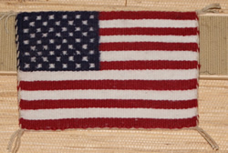 Small United States Flag Navajo Weaving