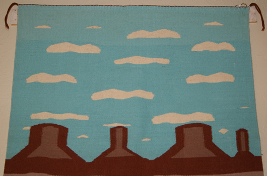 Pictorial Mesa Farms Navajo Rug Weaving For Sale Photo 2