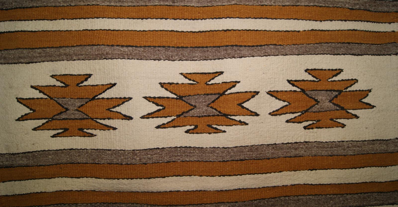 Wide Ruins Navajo Saddle Blanket