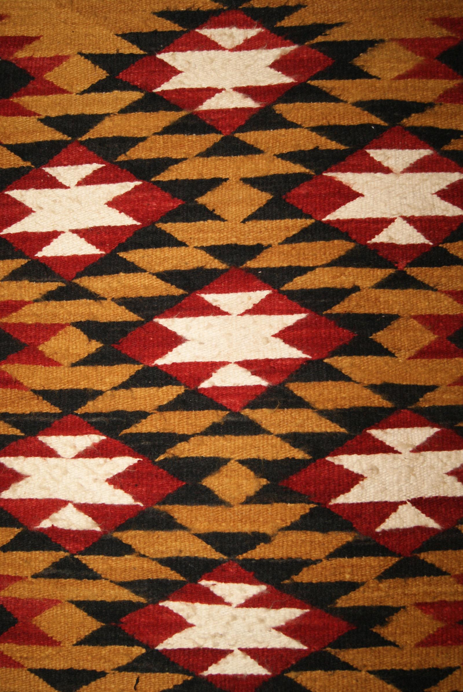 Navajo Double Saddle Blanket Navajo Weaving For Sale