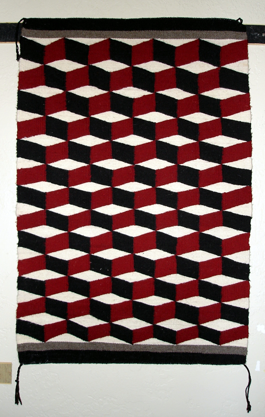 Optical Illusion Navajo Rug For Sale 23 Quot X 35 Quot