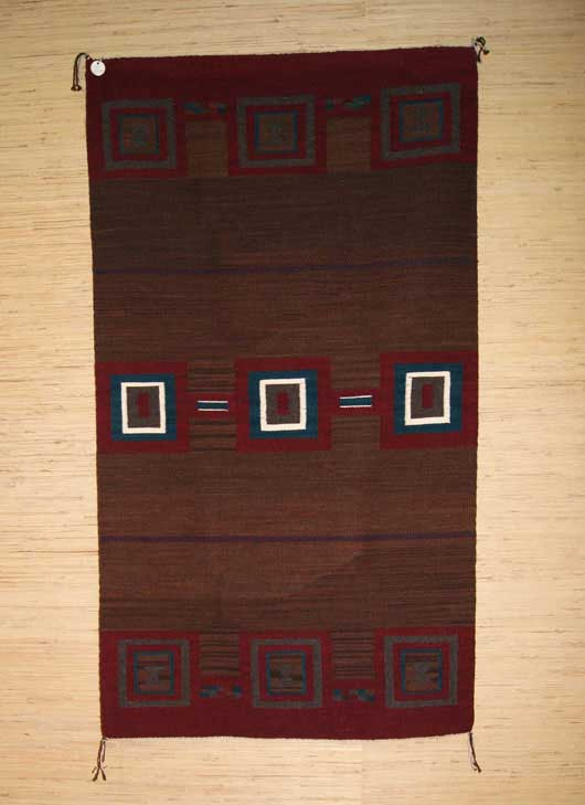Navajo Second Phase Chief Blanket Style Rug LR1 Photo 001