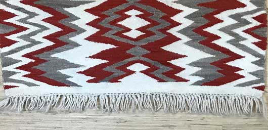 Navajo Transitional Blanket with an Exposed Warp Fringe 1146 Photo 002