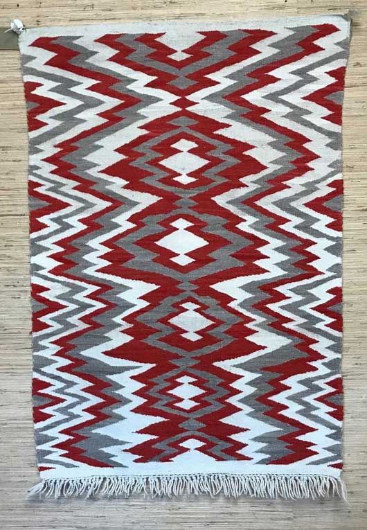 Navajo Transitional Blanket with an Exposed Warp Fringe 1146 Photo 003