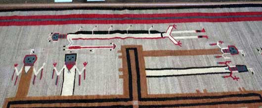 Nightway Sandpainting Navajo Weaving Whirling Logs 1131J Photo 003