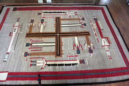 Nightway Sandpainting Navajo Weaving Whirling Logs 1131J Photo 004