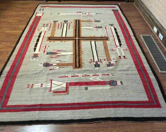 Nightway Sandpainting Navajo Weaving Whirling Logs 1131J Photo 007