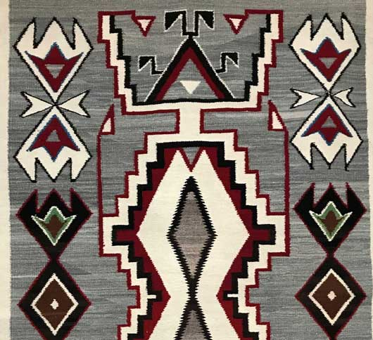 Red Mesa Teec Nos Pos Storm Pattern Variant Navajo Rug 1156 Photo 002