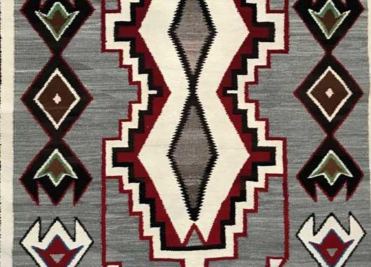 Red Mesa Teec Nos Pos Storm Pattern Variant Navajo Rug 1156 Photo 003