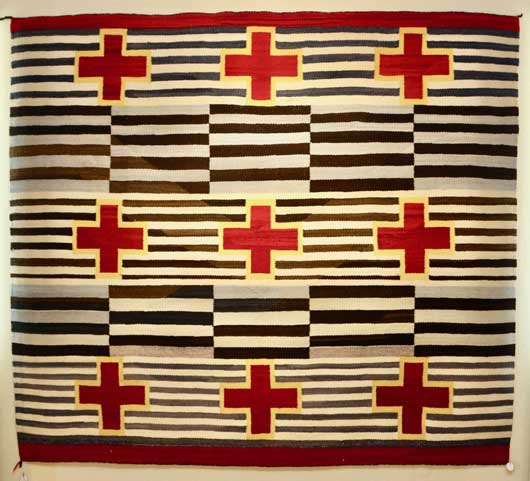 Red Mesa Woman Style Navajo Chiefs Blanket / Rug 1141 Photo 001