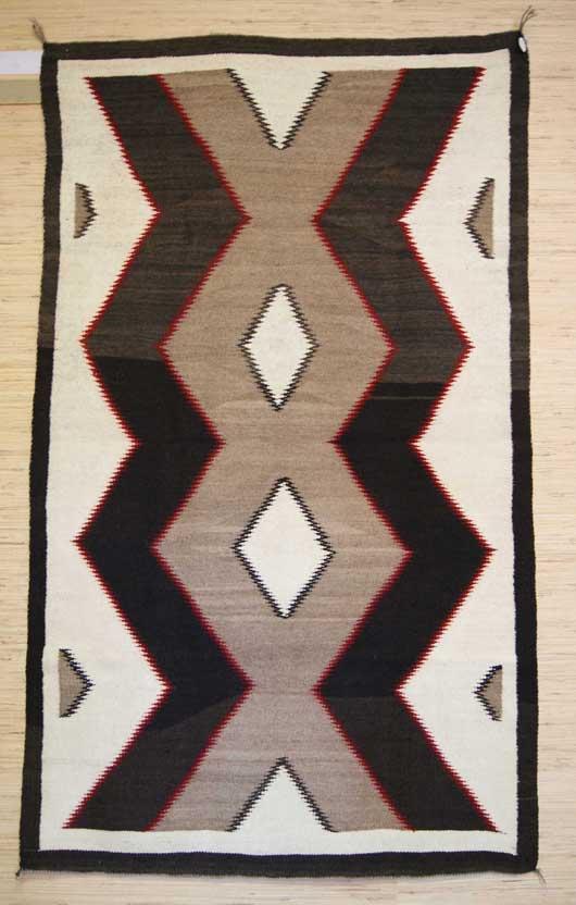 Regional Navajo Lightning Bolt Diamonds Weaving 374