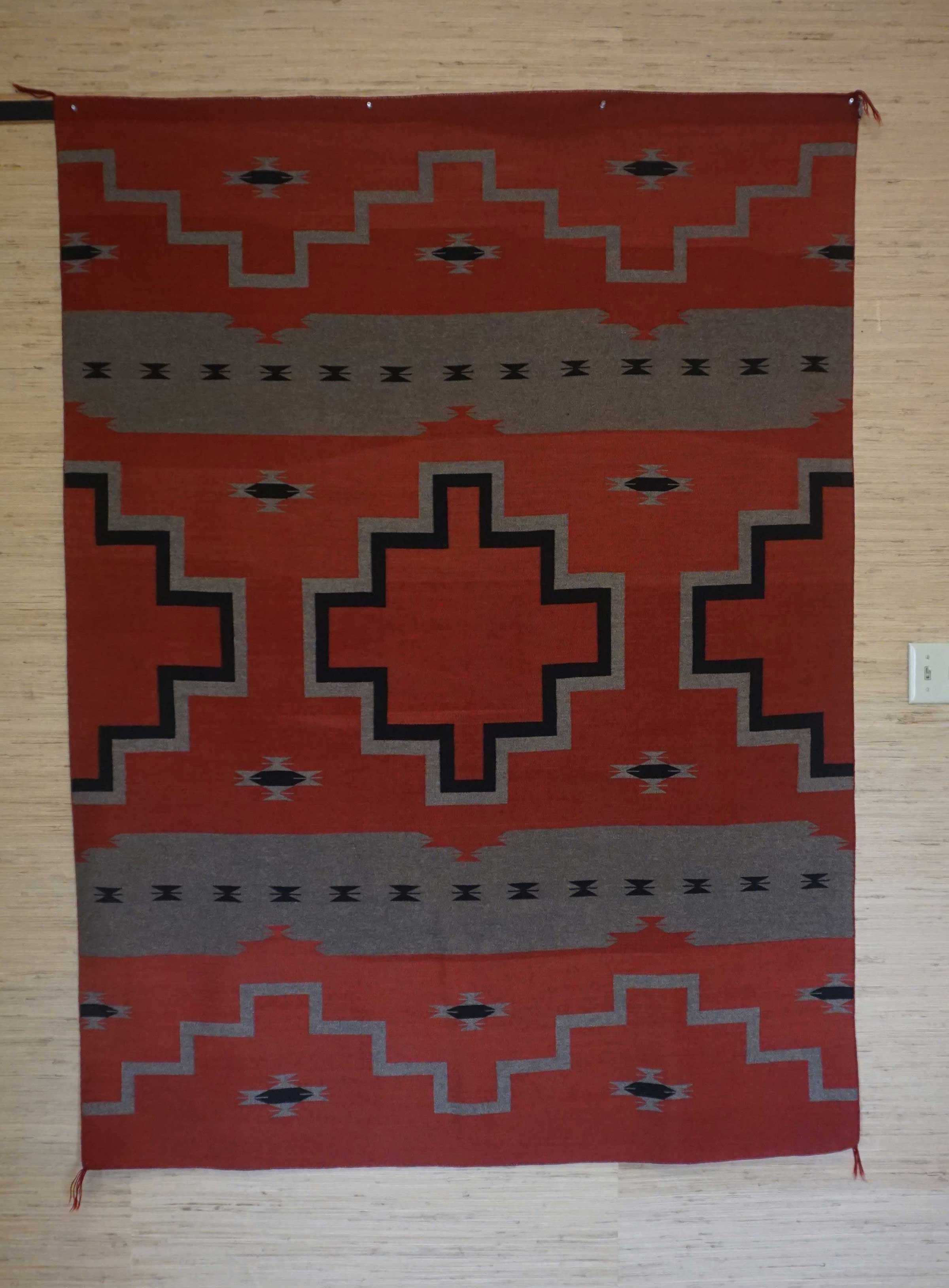 Featured Revival Navajo Wearing Blanket Circa 1930 for Sale
