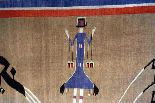Sandpainting Mountainway Navajo Weaving People of the Myth or Mountain Gods 1129J Photo 004