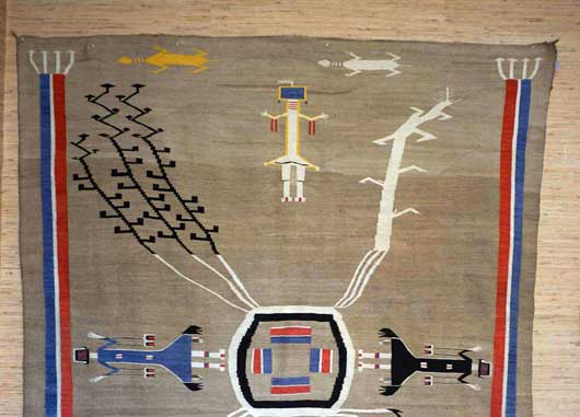Sandpainting Mountainway Navajo Weaving People of the Myth or Mountain Gods 1129J Photo 006