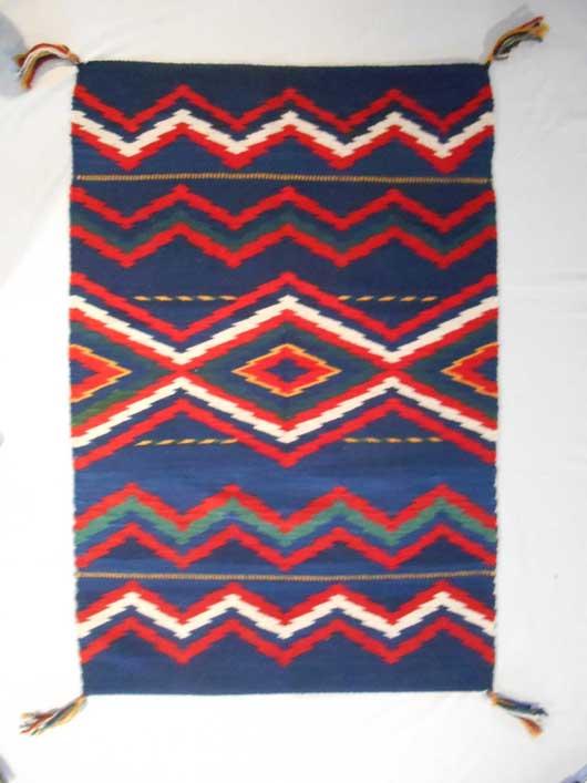Serape Style Navajo Rug Weaving