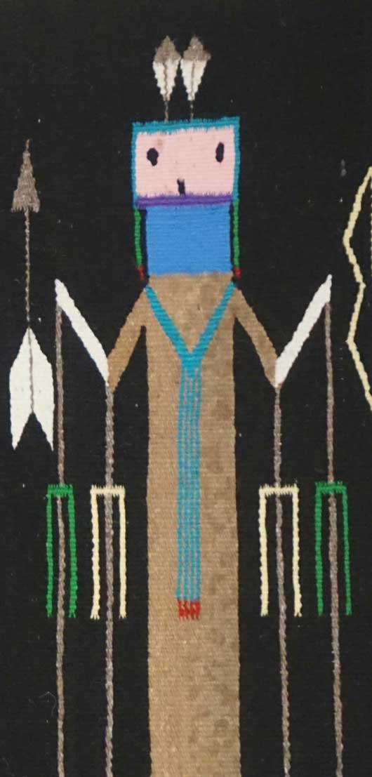 Seven Female Yei Navajo Rug for Sale 1074