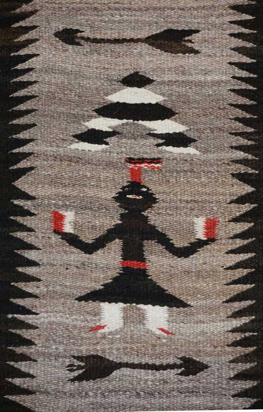 Single Figure Yei Pictorial Navajo Weaving