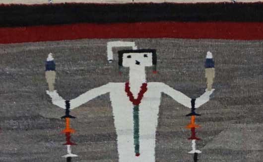 Single Yei Navajo Rug for Sale 960