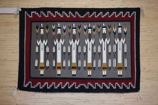 Six Female Yei Navajo Weaving by Freda Reid 937