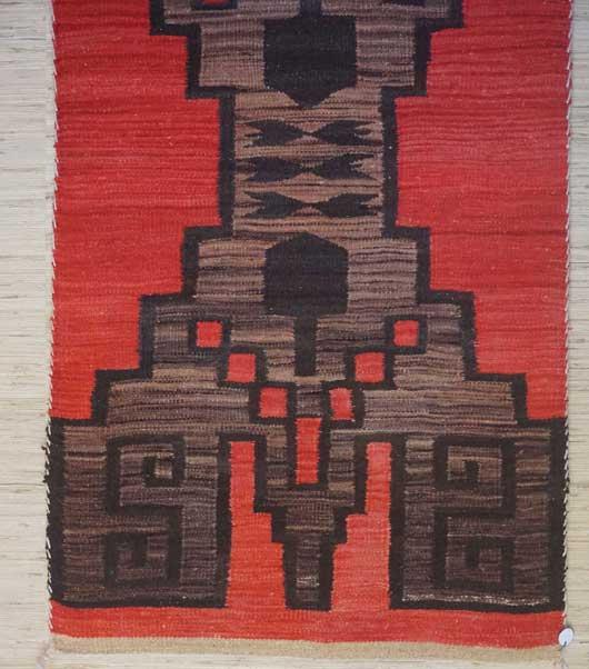 Storm Pattern Navajo Double Saddle Blanket 995