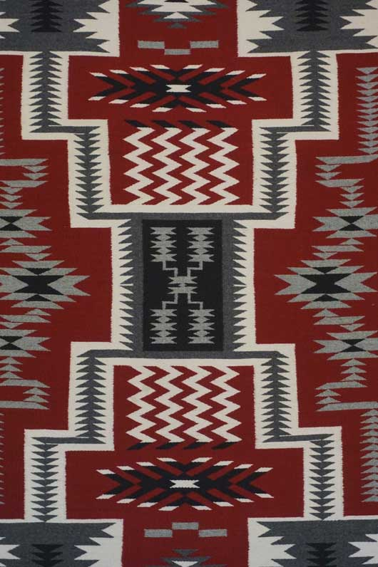 Storm Pattern Navajo Rug 1062